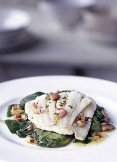 Plaice with brown shrimp butter