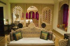 Interior de um quarto indiano.  Fotografia: www.goibibo.com