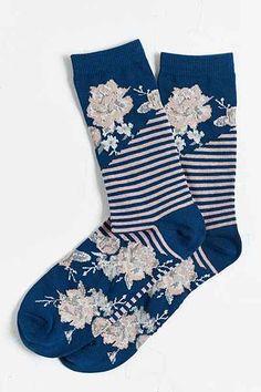 (with blue heels) Cute Socks, My Socks, Happy Socks, Floral Socks, Crazy Socks, Fashion Socks, Sock Shoes, Urban Outfitters, Cute Outfits