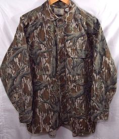 Check out  Mens Extra Large #MossyOak #Camo #Hunting Shirt Button Up #Camoflauge Long Sleeve
