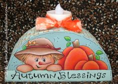 Puddles of Paint, Tole and Decorative Painting by Susan Kelley. Books, pattern packets, ornament CDs, free patterns and more! Round Candles, Fall Scarecrows, Autumn Art, Paint Shop, Tole Painting, Halloween Art, Painting Patterns, Fall Crafts, Cute Art