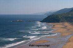 Playa de Zarautz. Basque Country. © Inaki Caperochipi Photography