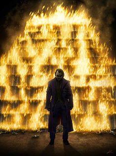 """""""When he awoke, the world was on fire.""""  Joker by Marko Manev"""