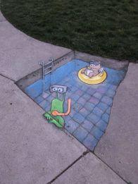 LOmbre Du Street Art Par Damon Belanger Street Art And Street - Artist paints fake shadows onto sidewalks leaving people seriously confused
