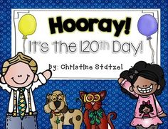 The common core standards requires students to be able to count to 120 so this year we are celebrating the 120th day of school. Celebrate  with these fun activities & printables!  What's Included:   * 120 is Fun to Count Student Book  * I can Write 120 Words Student Book  * If I had $120 Writing (includes money printable)  * Roll a Die 120 Times Activity  * Flip a Coin 120 Times Activity  * 120 Around the World Student Book  * How Many Can I Do in 120 Seconds?  * Get to a $1.20 Game  * ...