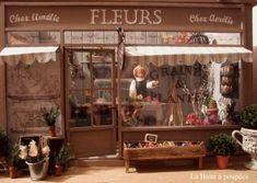 Fleuriste Boutique miniature par Charlie pour La Boîte à poupées sur le site www.laboiteapoupees.free.fr