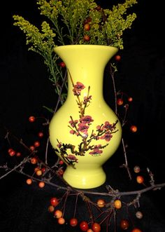 Vintage Japanese Porcelain Imperial Yellow  by CoCoBlueTreasures