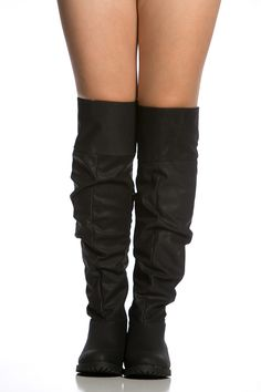 70860a3493e0 Black Faux Nubuck Over the Knee Slouch Boots @ Cicihot Boots  Catalog:women's winter boots,leather thigh high boots,black platform knee  high boots,over the ...