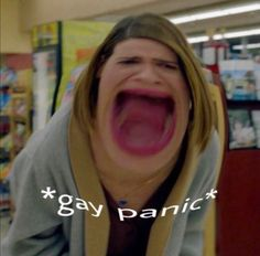 Lgbt Memes, Funny Memes, American Horror Story Funny, Lesbian Humor, Gay Aesthetic, Def Not, Mood Pics, Reaction Pictures, Horror Stories