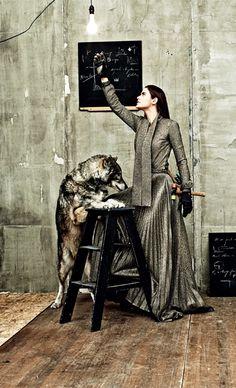 Alyson le Borges, photographed by Michel Comte for Italian Vogue Nov 2014.