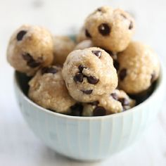 Chocolate Chip Cookie Dough Bites #ritualhotyoga