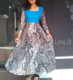 Code:1503161- Cotton Anarkali- Price INR:1950/-