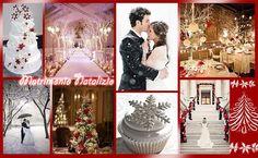 Matrimonio Natalizio 💐💒🎅🎄🎁 #natale #matrimonio #neve #romantico #sposa #rosso #bianco #love #christmas #chrismaswedding #snow #romantic #red #white #Bride #wedding #moodboard #mosaic #collage