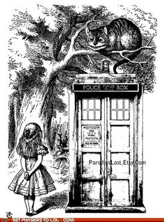 TARDIS in Wonderland.