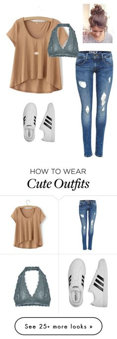 """casual outfit :)"" by rhselena on Polyvore featuring Free People, Kendra Scott and adidas"