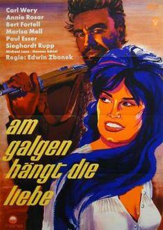 """1960 - """"Am Galgen hängt die Liebe"""" german film poster"""