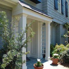 Add trellis on side near front door! Adds interest.