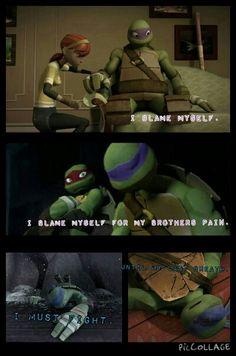 Made by~ Tallia Kane, poor Donnie I want to hug him so bad. Tmnt 2012, Ninja Turtles Art, Teenage Mutant Ninja Turtles, Turtle Facts, Tmnt Leo, Girl Meets World, Fan Art, Warrior Cats, Childhood