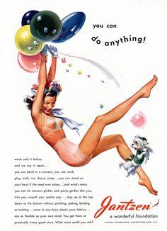 Pete Hawley illustrating ads for Jantzen, Mode Vintage, Vintage Ads, Vintage Posters, Vintage Girls, Retro Advertising, Vintage Advertisements, Pin Up Posters, Retro Illustration, Vintage Illustrations