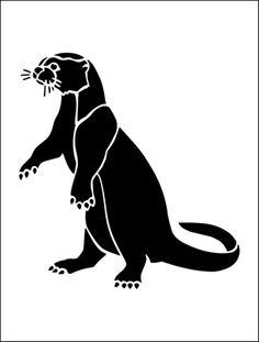 Otter stencil from The Stencil Library BUDGET STENCILS range. Buy stencils online. Stencil code MS91.