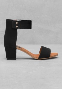 & Other Stories   Ankle Sandals   Black