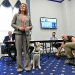 Several of those involved in the Veterans Administration's study of how service dogs can be used to help treat veterans appealed on Thursday to members of Congress to expand the program.    The House