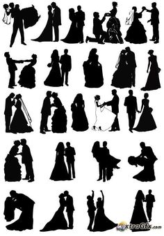wedding invitation silhouette - Google Search