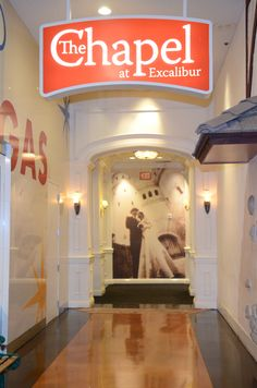 The Small Chapel Provides An Intimate Setting Holding Up To 20 People For Your Walk Down Aisle CastleWedding VegasWedding ExcaliburHotel D