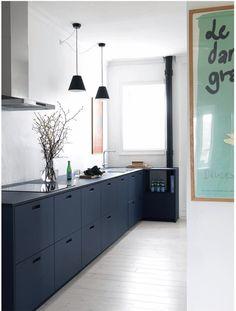Modern Kitchen Interior Stylish and delicious soft blue linoleum kitchen from Luxury Kitchen Design, Best Kitchen Designs, Luxury Kitchens, Interior Design Kitchen, Cool Kitchens, Kitchen Chairs, Living Room Kitchen, Living Room Interior, Kitchen Decor
