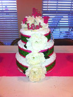 Diaper cake for a friend.