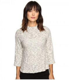 B Collection by Bobeau - Elizabeth Boxy Knit Top (Grey Mix) Women's Clothing