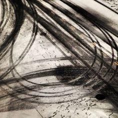 Tire tracks in the snow by Scott McDermott