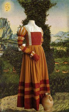Cranach Dress 16th century by LaCocoNoir