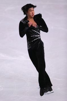 Jinlin Guan of China Men's Short 2013 Trophee Eric Bompard, Mens Figure Skating / Ice Skating dress inspiration for Sk8 Gr8 Designs.