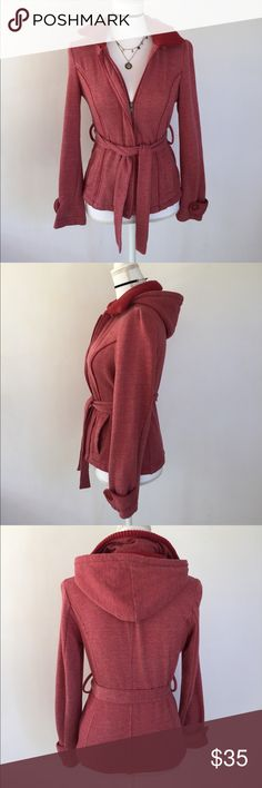 Guess Red Zip-up Hoodie Jacket, S This super cute Guess Red Zip-up Hoodies Jacket, S is great for those cooler fall days around the corner! EXCELLENT CONDITION, NO DEFECTS AND COMES FROM A SMOKE FREE ENVIRONMENT. Guess Tops Sweatshirts & Hoodies