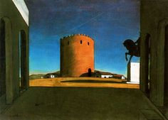 surrealismart:  The Red Tower, 1913 Giorgio de Chirico