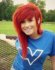 Latest Free red Scene Hair Thoughts Obtaining landscape hairstyles that look trendy and not saying can be tough, partially as there are Blonde Scene Hair, Red Scene Hair, Scene Bangs, Red Hair With Bangs, Long Red Hair, Sisterlocks, Locs, Hair Dye For Kids, Style Emo