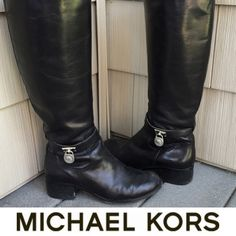 | Michael Kors | Black Leather Boots These boots are 100% AUTHENTIC and 100% real leather!!! Worn a handful of times but are in excellent condition. Such a staple for any women's wardrobe! 💥LOWEST, NO OFFERS💥 Michael Kors Shoes Over the Knee Boots