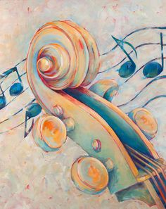 Blue Notes 2 Painting by Susanne Clark