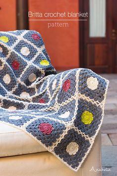 Britta crochet blanket pattern by Anabelia Craft Design