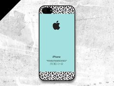 iPhone 5 / 5s case - Tiffany Teal and Leopard Pattern cases, iPhone Case, iPhone5 Case, Cases for iPhone5, iPhone5s Case, Cases for iPhone5s on Etsy, $15.00