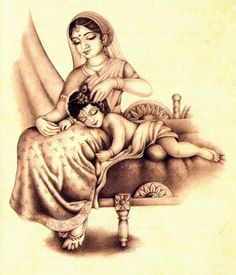 little Krishna sleeps