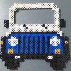 Jeep car frame perler beads by aieaiesailor
