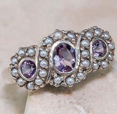 Amethyst & Seed Pearl Ring. This would be a gift I would NEVER forget?