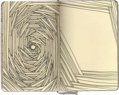 repetitive, recursive, doodle, sketch, zentanlge, drawing. Early Obsessions - Stephanie Kubo