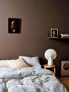 45 Dark And Moody Bedroom Decorating Ideas 33 Calming Bedroom Colors, Bedroom Color Schemes, Colour Schemes, Color Combos, Modern Bedroom, Bedroom Decor, Calm Bedroom, Bedroom Small, Minimalist Bedroom