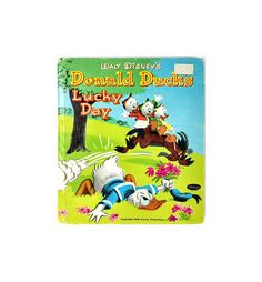 Walt Disney Whitman Donald Ducks Lucky Day HC Childrens Book