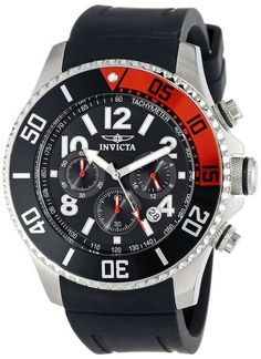 Invicta 15145 Men's Watch Chronograph Pro Diver With Red/Black Rotating Bezel