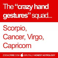 Crazy hand gestures - zodiacfire.com
