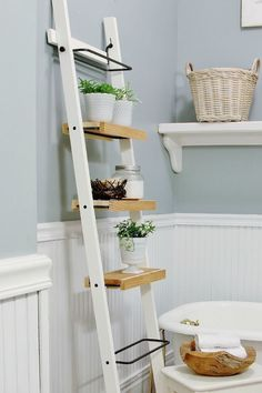 These 10 DIY IKEA Hacks will save you so much money on your furniture! Find some. These 10 DIY IKEA Hacks will save you so much money on your furniture! Find some amazing IKEA stora Ikea Bathroom Shelves, Ikea Hack Bathroom, Ikea Shelves, Ikea Storage, Storage Hacks, Bathroom Organisation, Storage Ideas, Bathroom Ideas, Bathroom Ladder